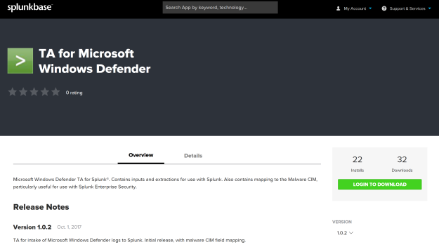 TA_for_Microsoft_Windows_Defender_Splunkbase